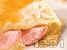 Рецепта Кренвиршки с бутер тесто на фурна